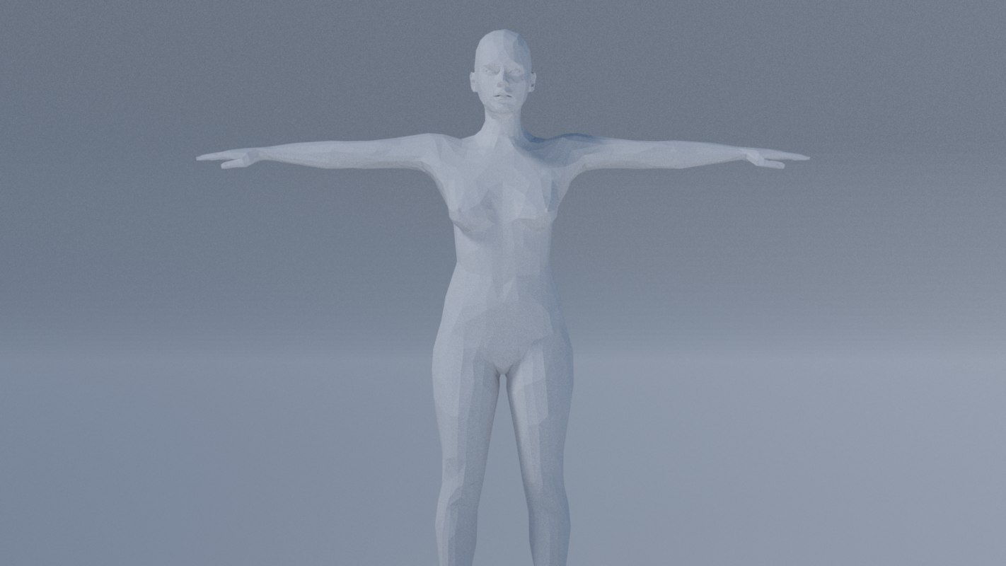 rigged woman 3D model