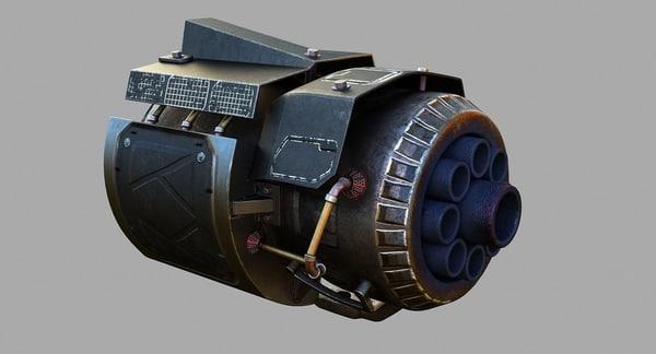 sci-fi big gun sci fi 3D model