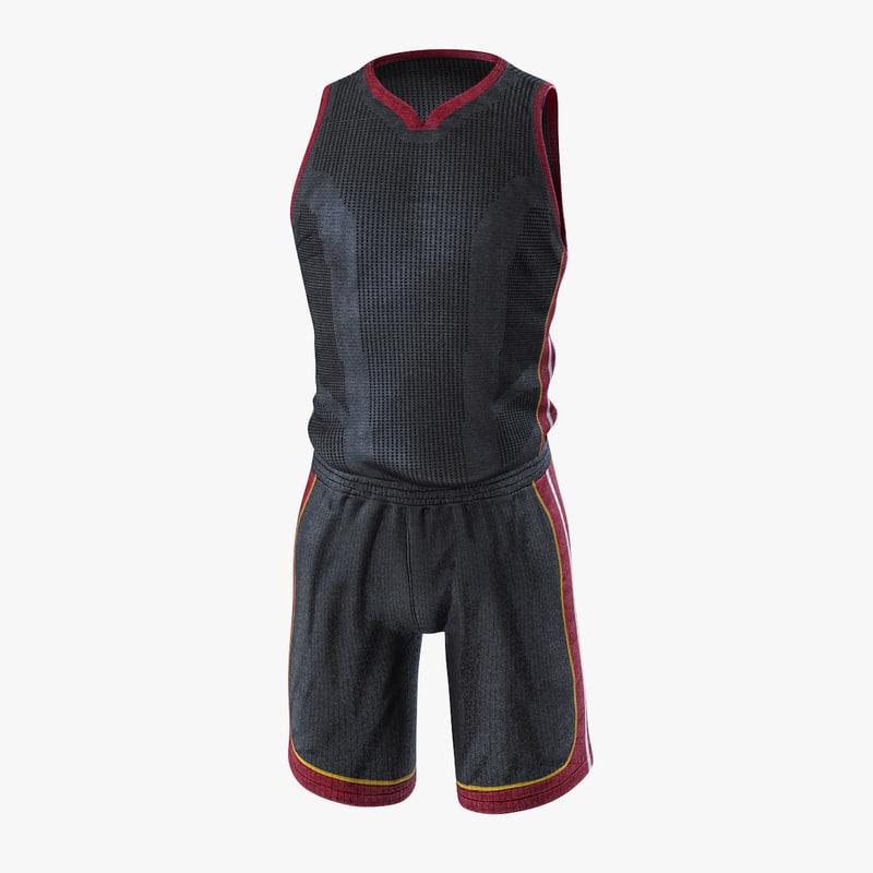 3D basketball uniform model