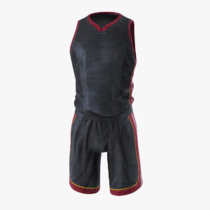 3D basketball uniform model