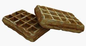 belgian waffles 3D model