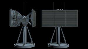 3D sci-fi radar 2 model
