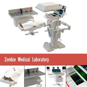 3D model zombie medical laboratory