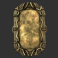frame picture 3D model