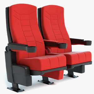 theater seats 3D model