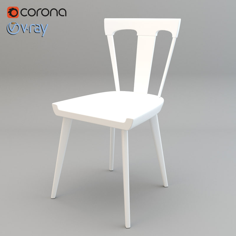 realistic splat dining chair model