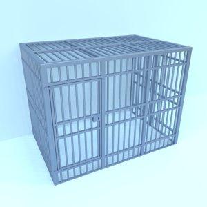 prison cage 3D model
