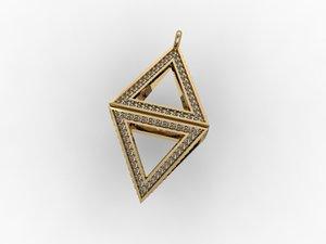 pyramids pendant 3D model