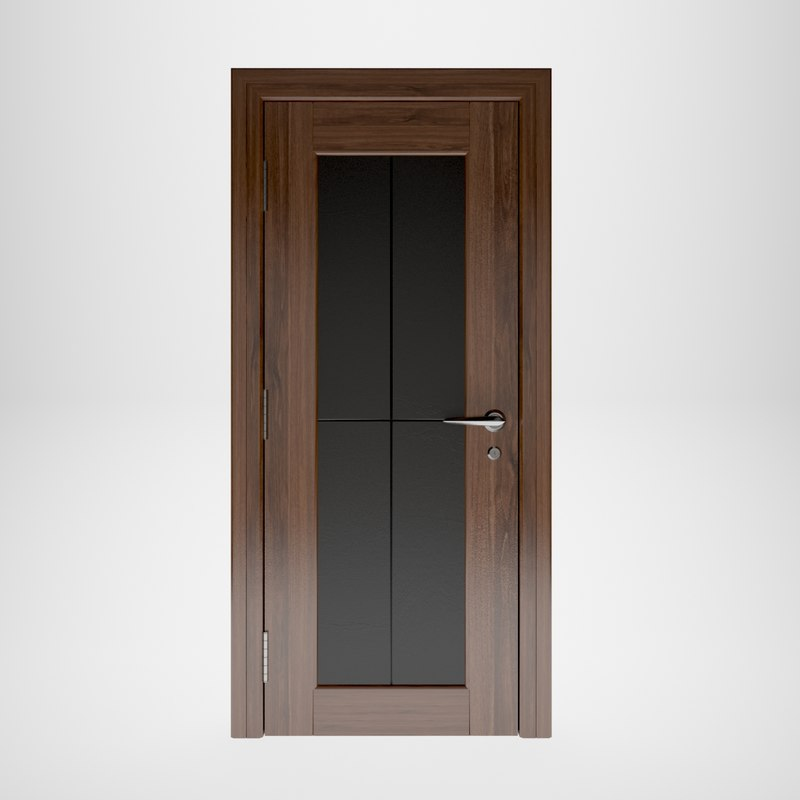 3D wooden door interior model