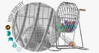 3D bingo cage model