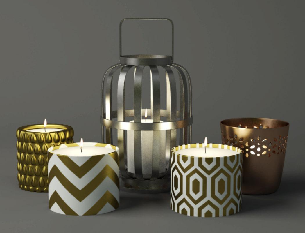 3D lantern candles candleholder home