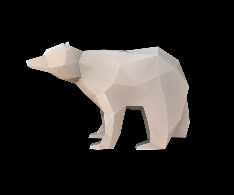 3D model bear sculpture print