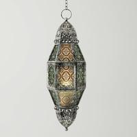 metal moroccan lantern 3D
