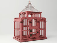 red decorative cage zara 3D model