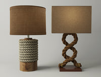 3D rope table lamps model