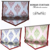 3D roman curtain