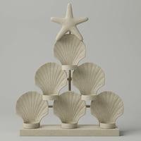 seashell tealight candleholder 3D