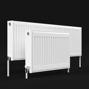 steel radiator 3D model
