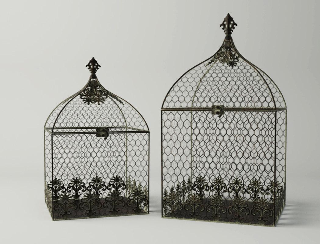 3D square birdcages model