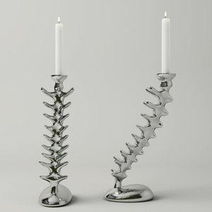 3D vertebra candlesticks michael aram