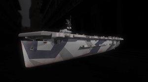 casablanca-class escort carrier 3D
