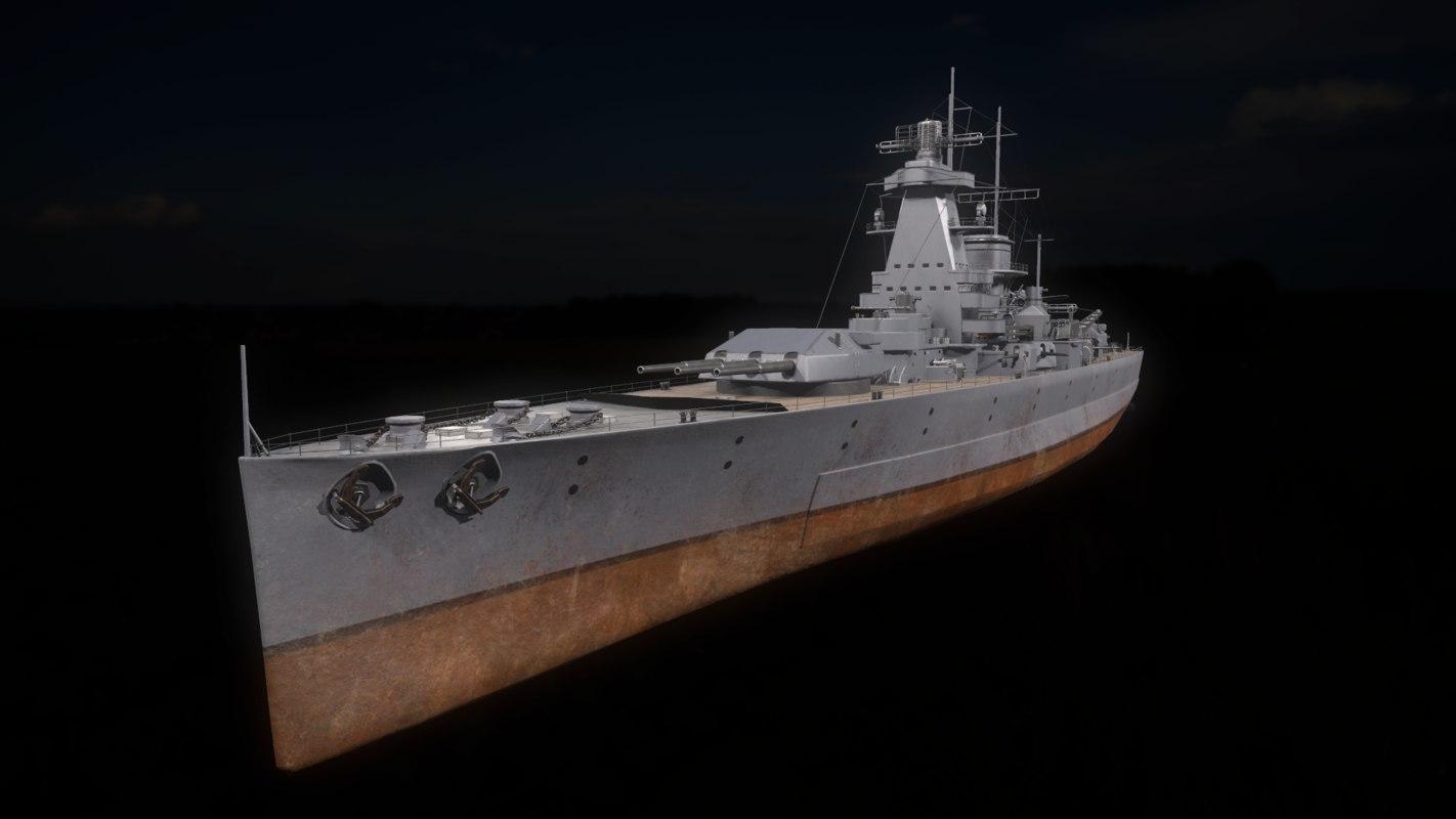 3D model admiral scheer type deutschland