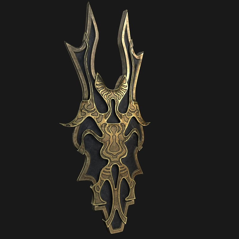 3D shield fantasy
