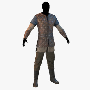 viking warrior clothes 3D model