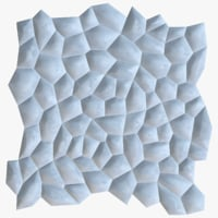 decorative seamless wall panel 3D model