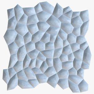 decorative seamless wall panel 3D model