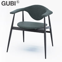 gubi masculo chair wooden model