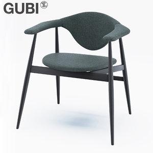 gubi masculo chair wooden model