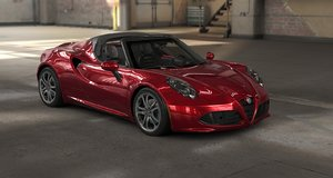 3D alfa romeo 4c spider model