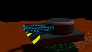 3D model scifi tank