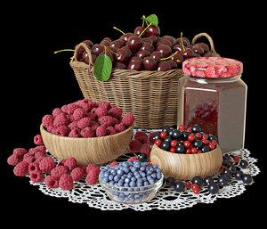 set berries 3D model