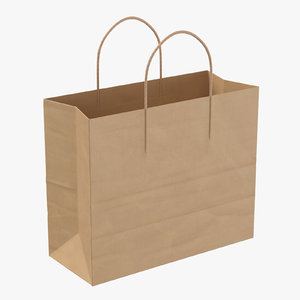 paper shopping bag handle 3D model
