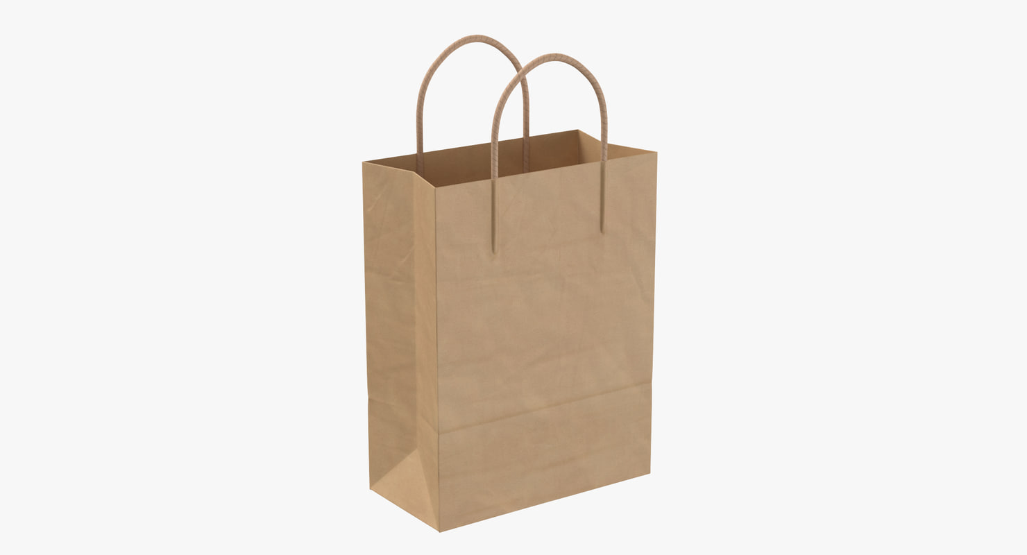 3D paper shopping bag handle