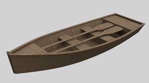 boat paddles 3D