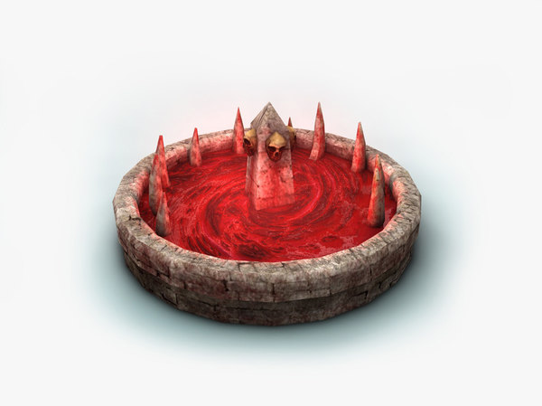 blood fountain fantasy animation 3D