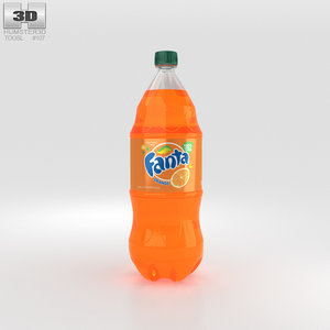 3D model bottle fanta 2
