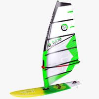 windsurf board sail 3D model