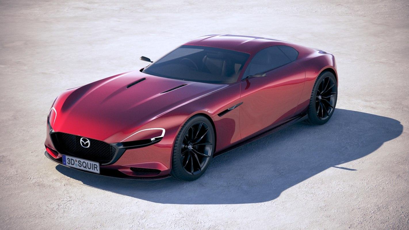... Mazda Rx 9 Vision 3D Model