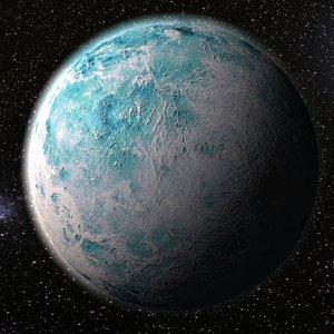 frozen planet 3D model