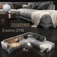 sofa natuzzi erasmo 2716 3D model