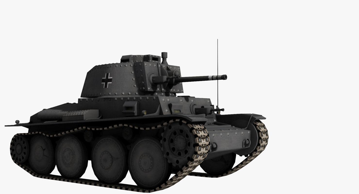 3D model panzer 38 t