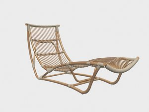 sika desing ratan chaise longue 3D model