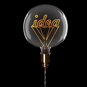 3D edison idea bulb