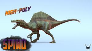 spino spinosaurus 3D model