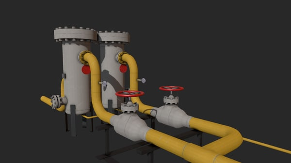 gas pipes 3D model
