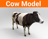 cow low poly model